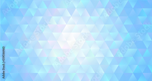 Fotografie, Obraz Abstract regular triangle polygons background crystal style