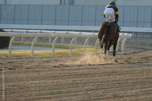 Vászonkép the scene of horse race