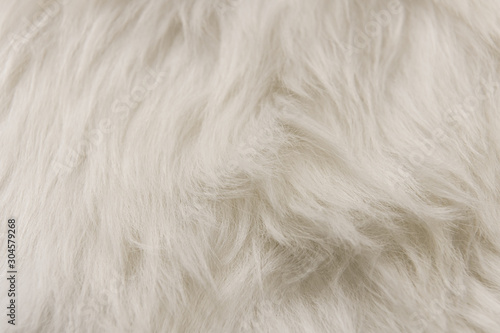 White artificial fur texture for background close-up Fototapete