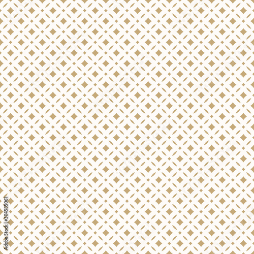 Canvas Print Golden abstract floral seamless pattern