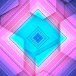 canvas print picture - The shape of hexagon concept design. Abstract technology background. 3D rendering