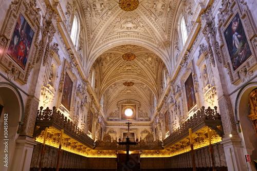 Fotografija  Interior of the Carthusian monastery church of the Assumption of Our Lady (Monasterio de la Cartuja) , Granada, Spain