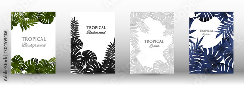 Obraz A set of tropic - fototapety do salonu