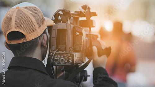 cameraman recording Slika na platnu