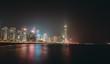 Hong Kong Island waterfront night view