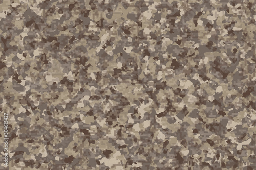 Desert Forest Digital Camouflage [Light Green and Brown Color], Highly sophisticated camouflage pattern to destroy visibility from digital devices, Strategy for hiding and disguising from detection Fototapeta