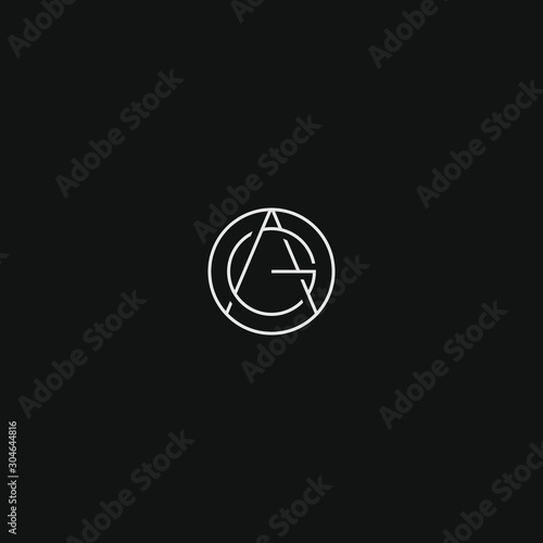 Photo AG GA monogram logo initial letter design