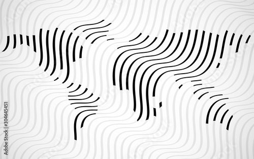 Fotografie, Obraz Abstract world map of wavy lines. Topographic pattern