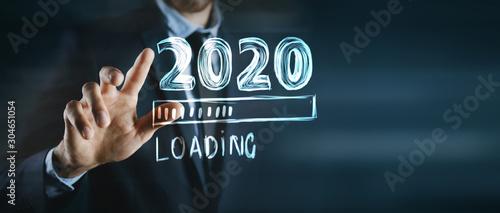 Cuadros en Lienzo Progress bar showing loading of 2020