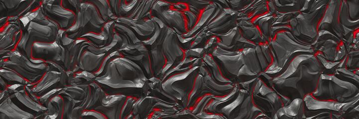 3d ilustracija. Vulkan- pozadinska magma
