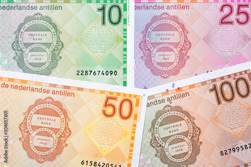 Netherlands Antillean money - Guilder a background Fototapet