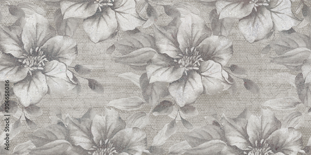 Fototapeta seamless floral background with flowers