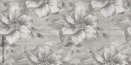 Obraz seamless floral background with flowers - fototapety do salonu