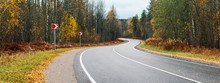 Panorama Winding Asphalt Road ...