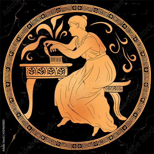 The ancient Greek goddess Pandora opens a box and frees evil powers Canvas Print