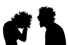 Vector Silhouette Of Couple On...