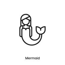 Mermaid Icon Vector. Sea Girl Icon Vector Symbol Illustration. Modern Simple Vector Icon For Your Design. Mermaid Icon Vector.