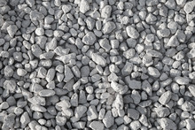 Gray Industrial Gravel On The ...