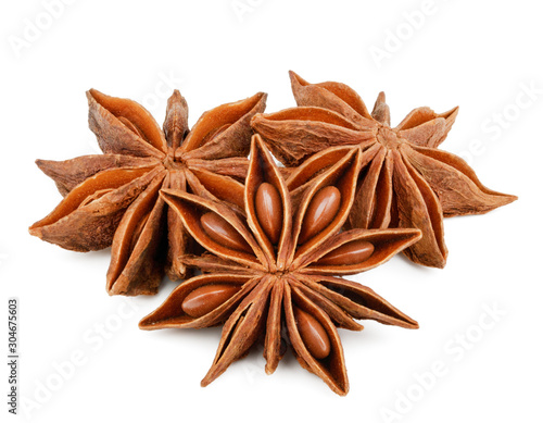 Fototapeta Star anise spice isolated on white background obraz
