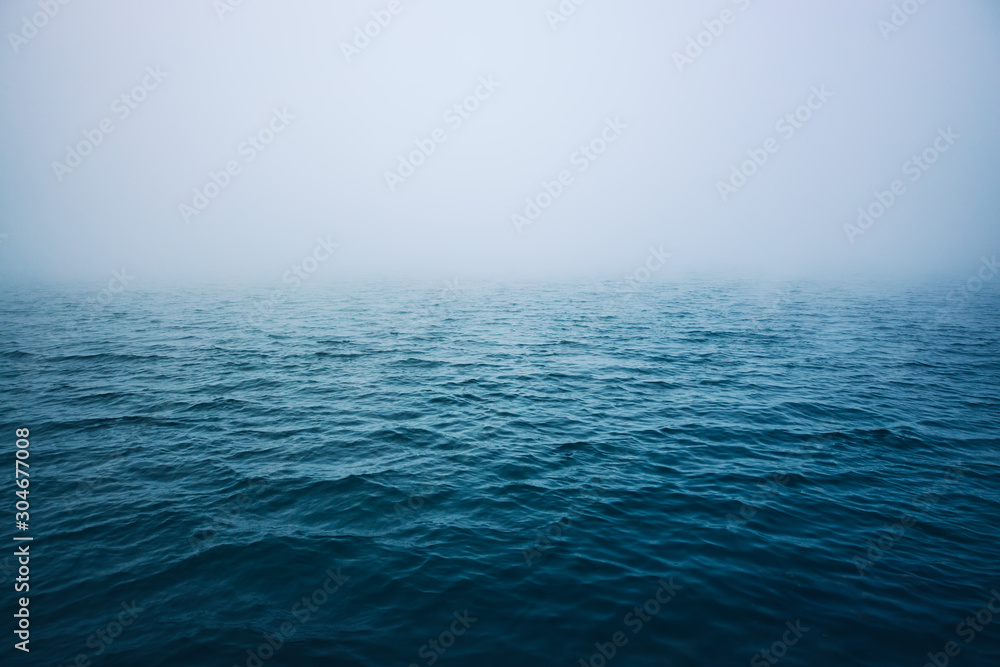 Fototapety, obrazy: Sea ripple water with morning fog