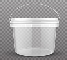 Clear Plastic Bucket Closed By...