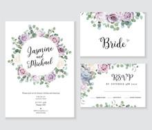 Floral Wedding Vector Frames