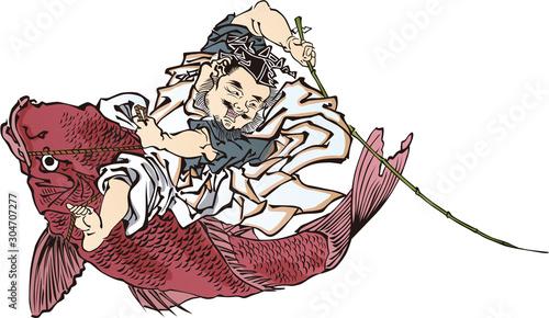 Obraz na plátně 浮世絵 七福神 その3