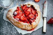 Heart Shaped Strawberry Galett...