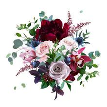 Luxury Fall Flowers Vector Bouquet