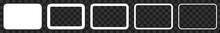 Rectangle Icon White | Rounded...