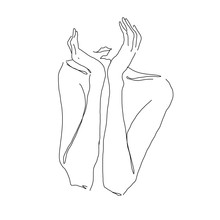 Hand Drawing Sketch Hand& One ...