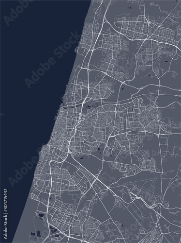 Fotomural  map of the city of Tel Aviv, Yafo,Jaffa, Israel