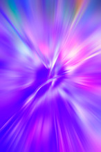 Abstract Blurred Color Background - Radial Colored Rays Of Purple, Pink, Green.