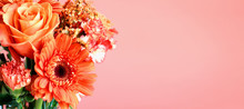 Bouquet Of Beautiful Coral Col...