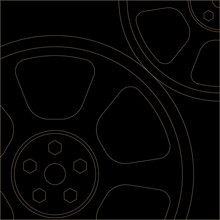 Thin Lined Cogs / EPS10 Vector