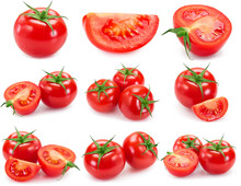 Collection Of Fresh Tomato Iso...