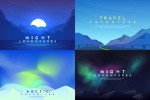 Vector Abstract Background Set...