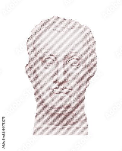 Photo  Vector portrait of Gattamelata by Donatello