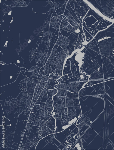 Photo map of the city of Haarlem, Netherlands