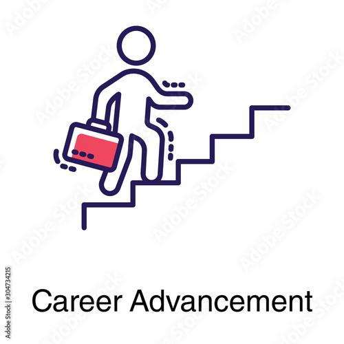 Career Advancement Vector Canvas Print