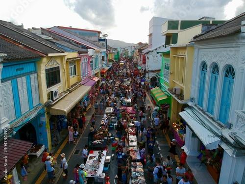 Fototapeta street in the phuket town