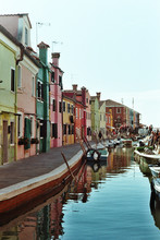 Colorful Canal Of Burano