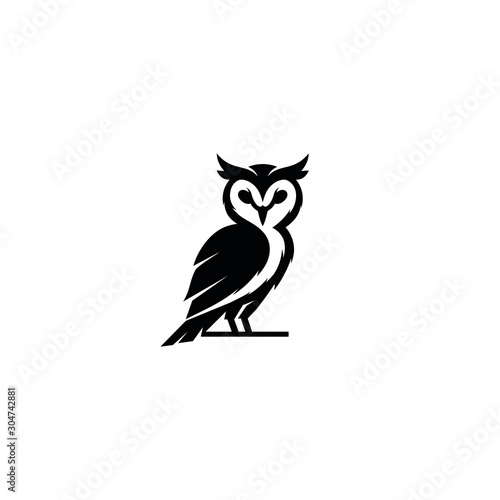 In de dag Uilen cartoon owl, logo, vector, icon, design, symbol