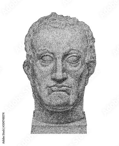 Vector portrait of Gattamelata by Donatello Canvas Print
