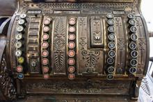 Antique Cash Register. Close U...