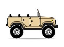 Britischer Jeep Safari Geländ...
