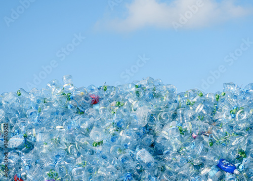 Industrial Village / T Jetty Area - Male\', Maldives - July 30, 2017 - Dumped Plastic Bottles
