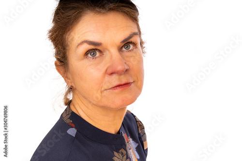 Serious portrait of an elegant middle-aged woman Fototapet