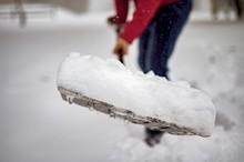 Closeup Shot Of Snow On A Snow...