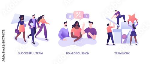 Teamwork Illustrations Set